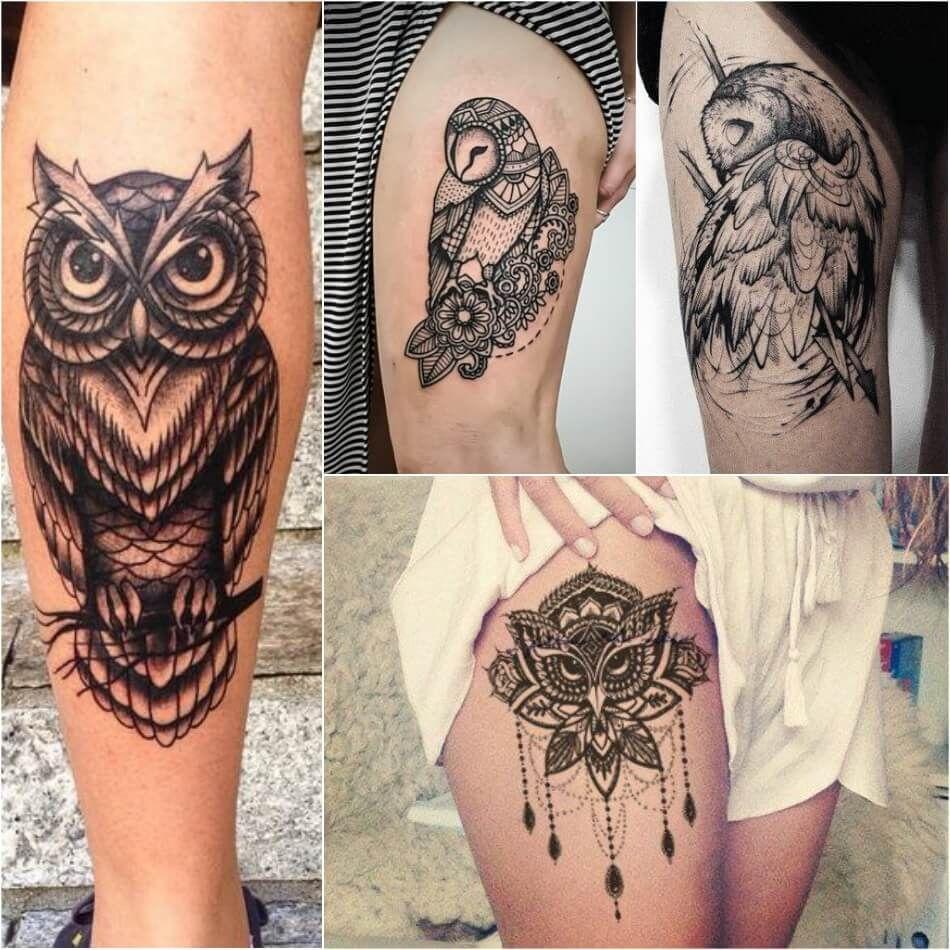 Owl Tattoos On Thigh Owl Tattoo Girly Owl Tattoos Explore More Tattoo Ideas On Positivefox Com Barnowlt Owl Tattoo Wrist Tattoos For Guys Mens Owl Tattoo