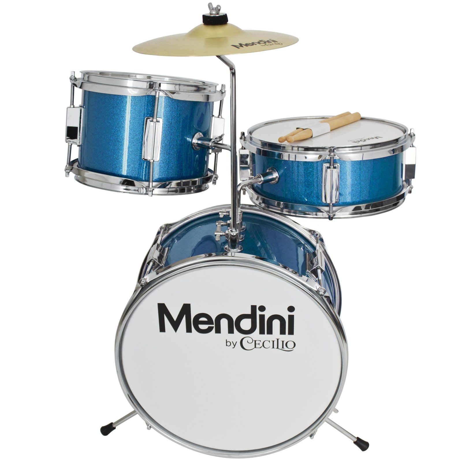 Mendini By Cecilio 13 Inch 3 Piece Kids Junior Drum Set With 1 Adjustable Throne