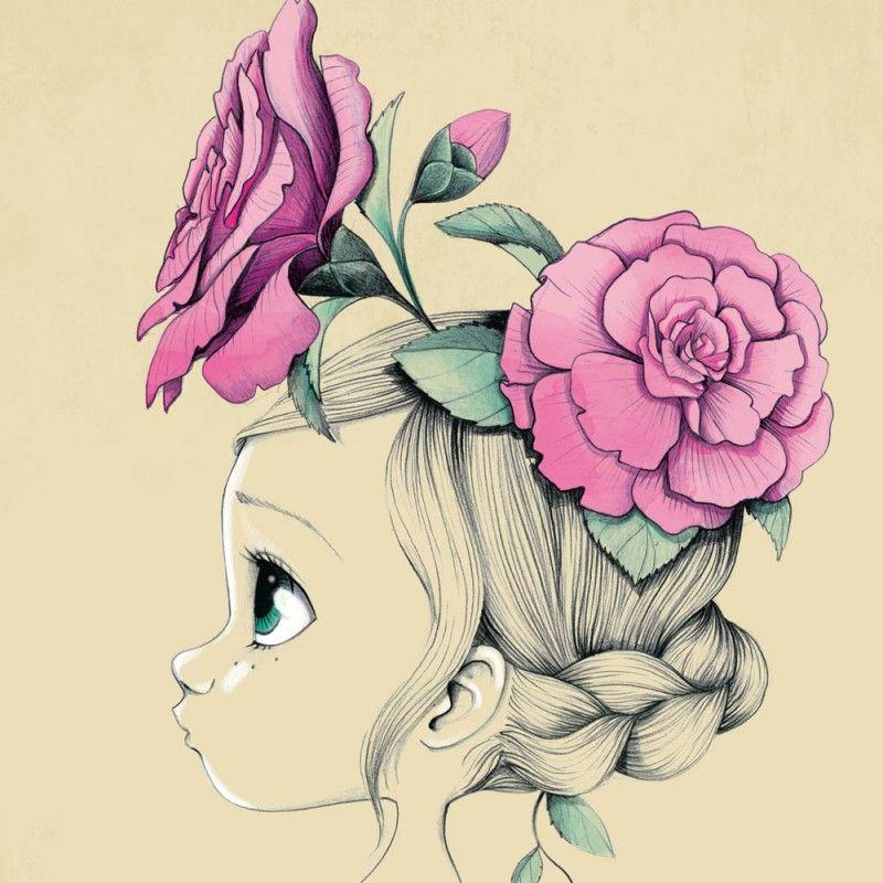 Ce tableau de d coration murale de chambre d 39 enfant wild girl d 39 emma - Petite decoration murale ...