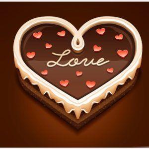 Love Cake Wallpaper