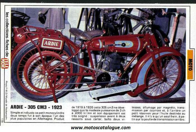 1923 Ardie (Germany) 305cc | Classic Motorcycles | Pinterest