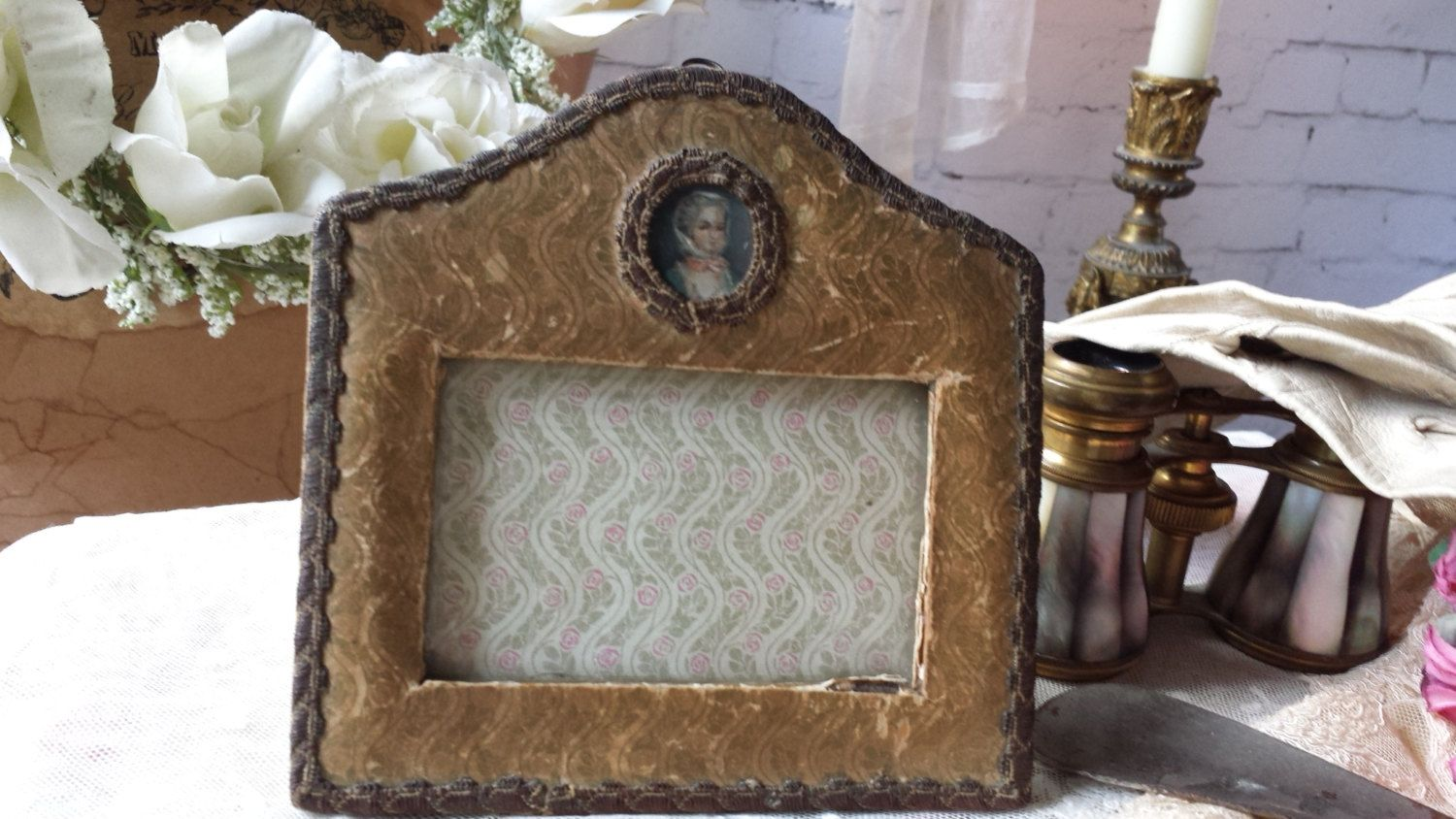 New to NostalgiqueBoutique on Etsy: Darling Antique French Edwardian Photoframe (39.00 GBP)