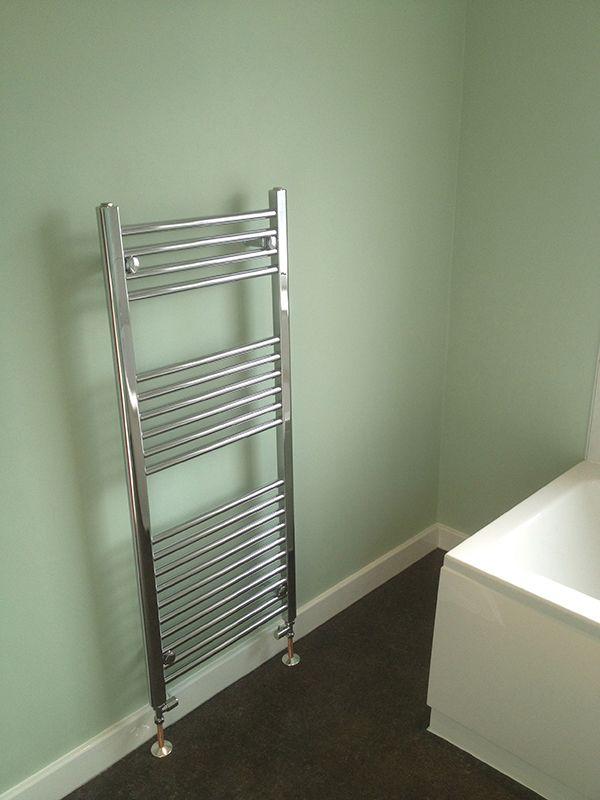 Straight Radiator Valves On A Towel Warmer for a Leeds bath…   Towel ...