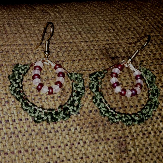 Pinterest inspired crocheted earrings