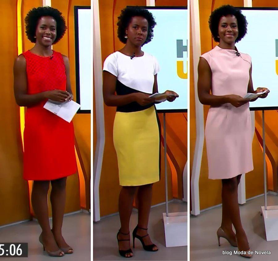 86a12fff4 moda do programa Hora 1, vestidos da Maria Julia Coutinho dias 29 a 31 de  dezembro
