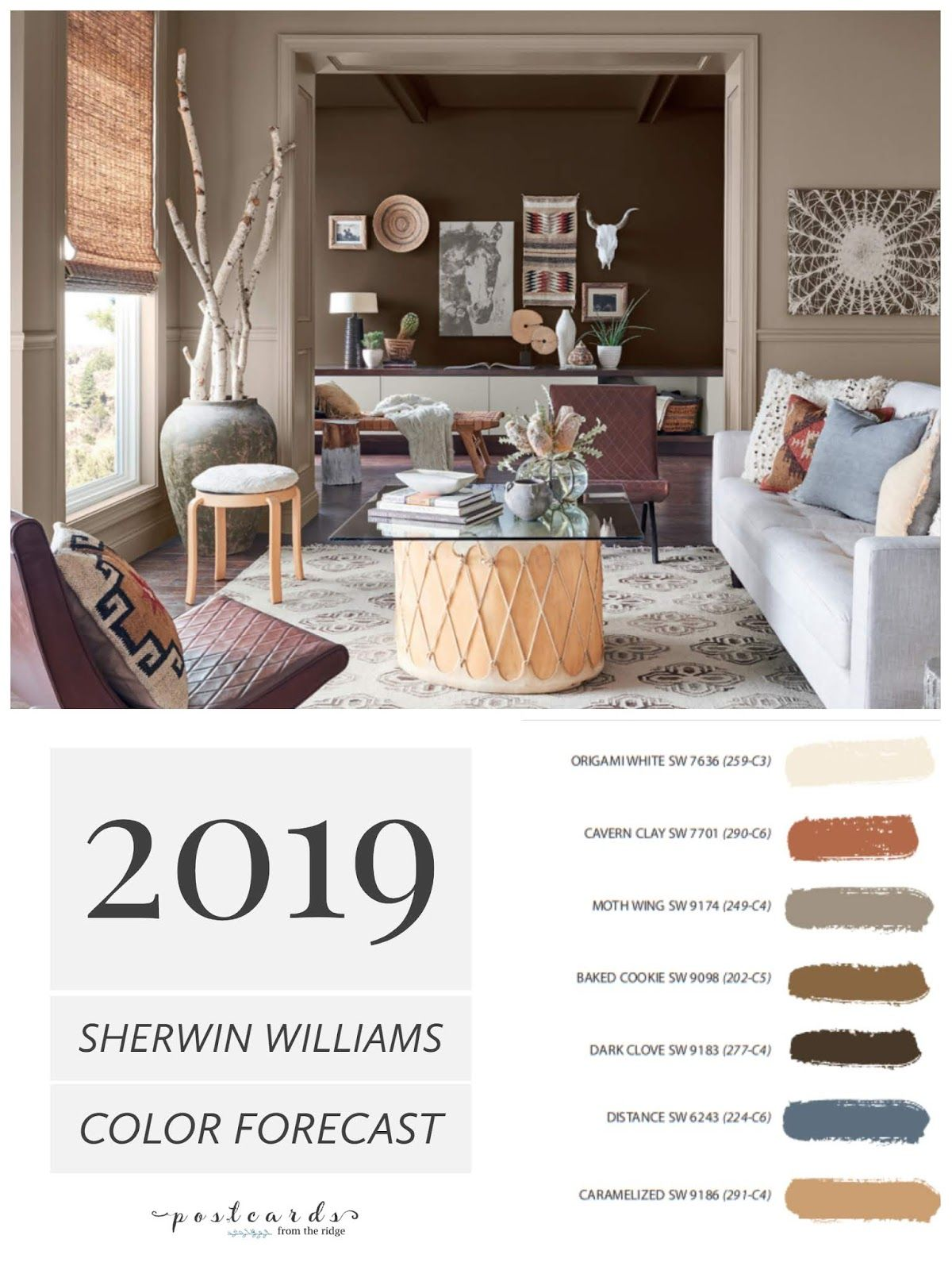 2019 Paint Color Forecast from Sherwin Williams #livingroompaintcolorideas