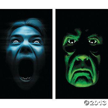 Silent Shrieker  Green Demon Window Clings at ORIENTAL TRADING - halloween window clings