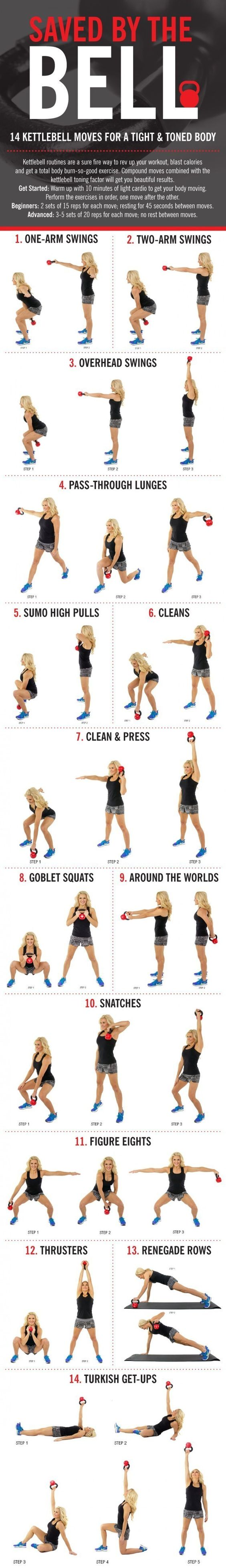 Or How To Work Your Whole Body With Just One Kettlebell Workouts Full Circuit Workout Weights Pinterest 19 Cheat Sheets For Every Kind Of
