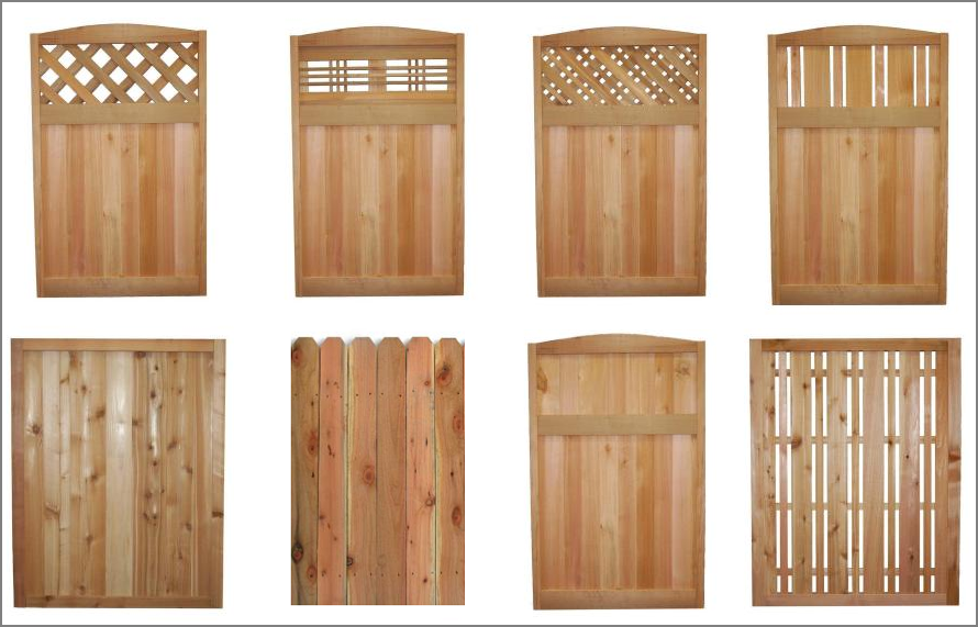 Fence panels residential fence wood privacy for Wood privacy screen panels