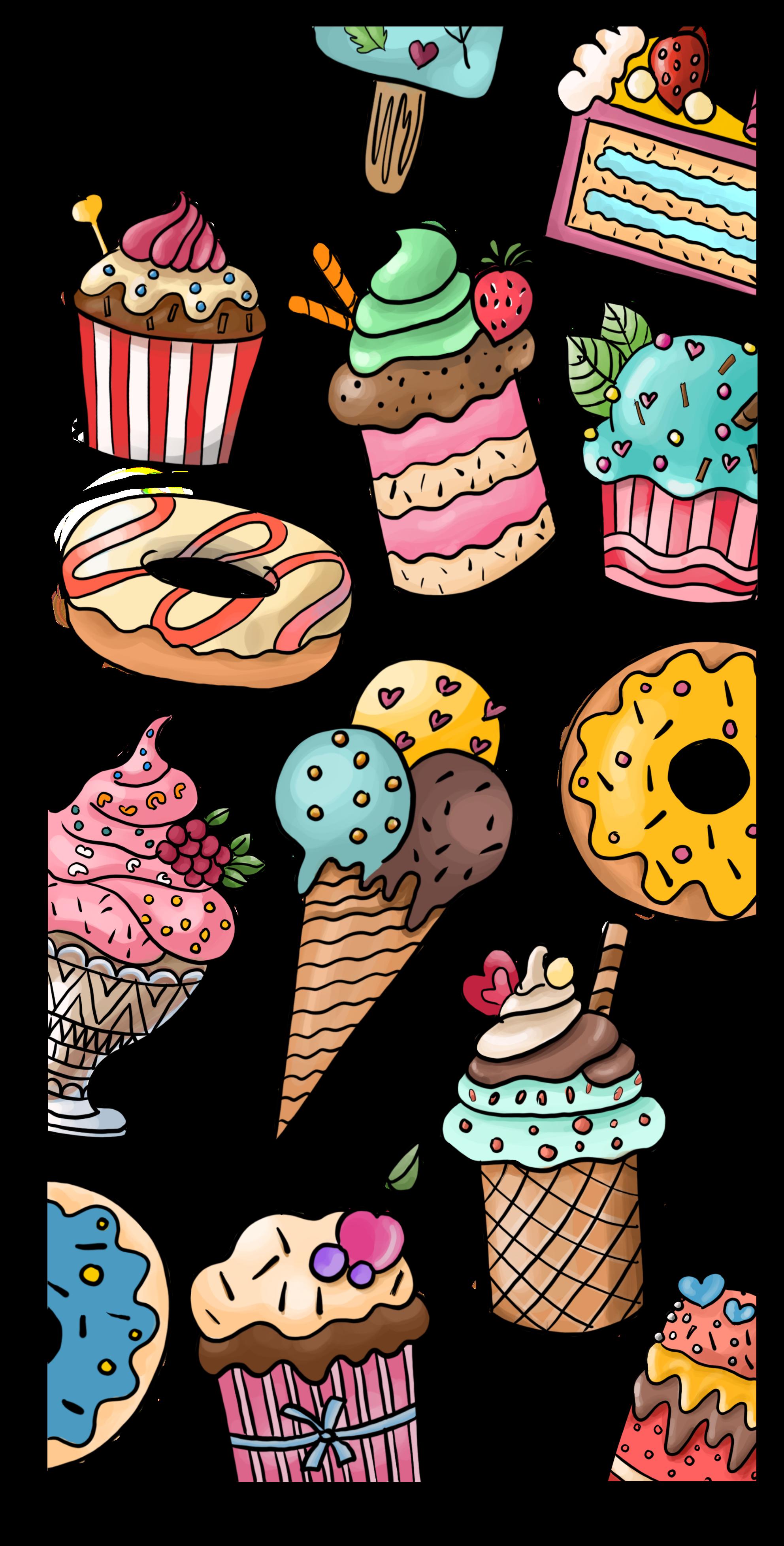 Dessert Wallpaper Casetify Iphone Art Design Illustration Wallpaper Iphone Love Wallpaper Iphone Cute Android Wallpaper
