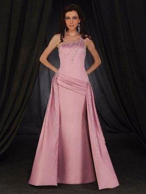 günstige rosarote geraffte Abendkleider mit Schleppe | brautkleider ...