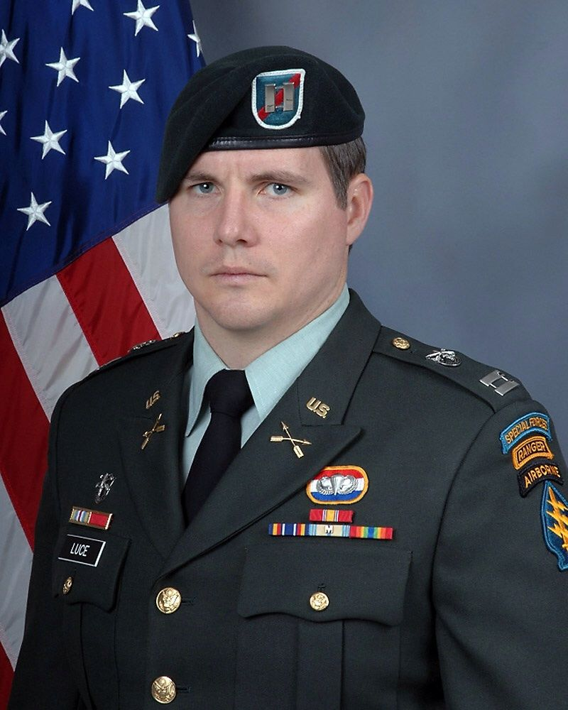 Captain Ronald G. Luce, 27, of the U.S. Army Company C