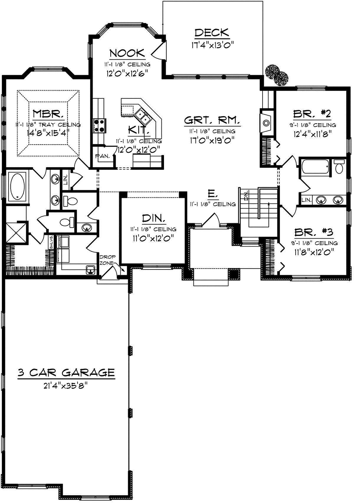 House Plan 102000308 Craftsman Plan 2,065 Square Feet