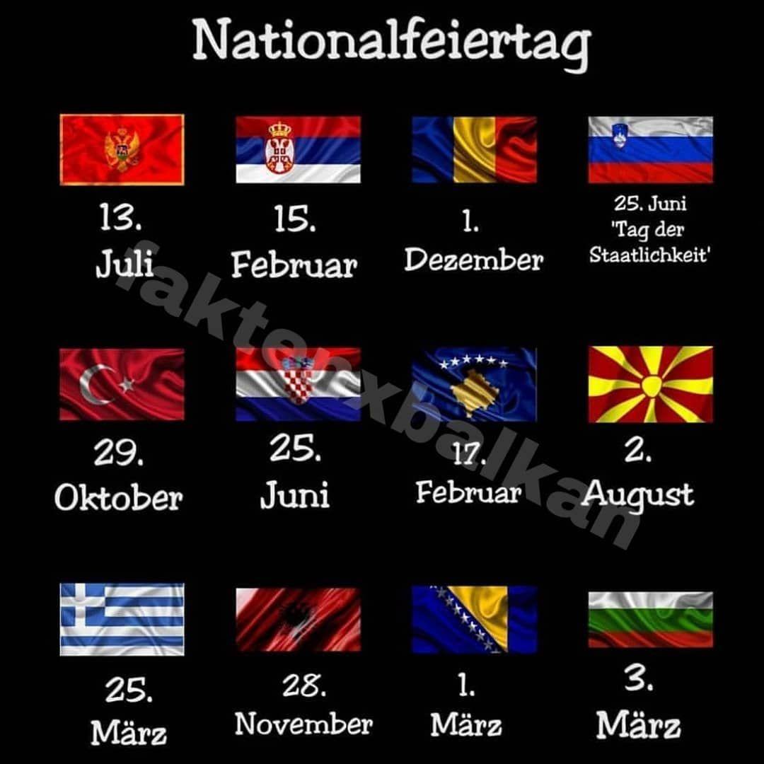 Die Nationalfeiertagen Der Balkanlander Albanien Bulgarien Bosnien Griechenland Kosovo Kroatien Mazedoni