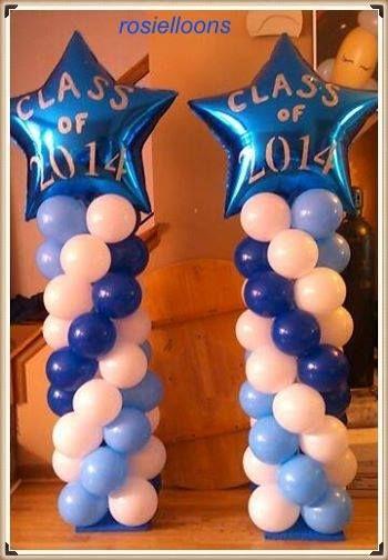 Decoraci n con columnas de globos con estrellas para for Decoracion con estrellas