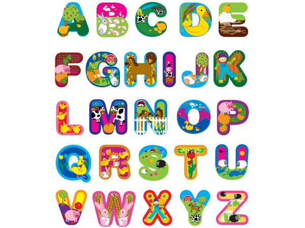 alphabet letters with picture farm yard alphabet letters removable wall stickers