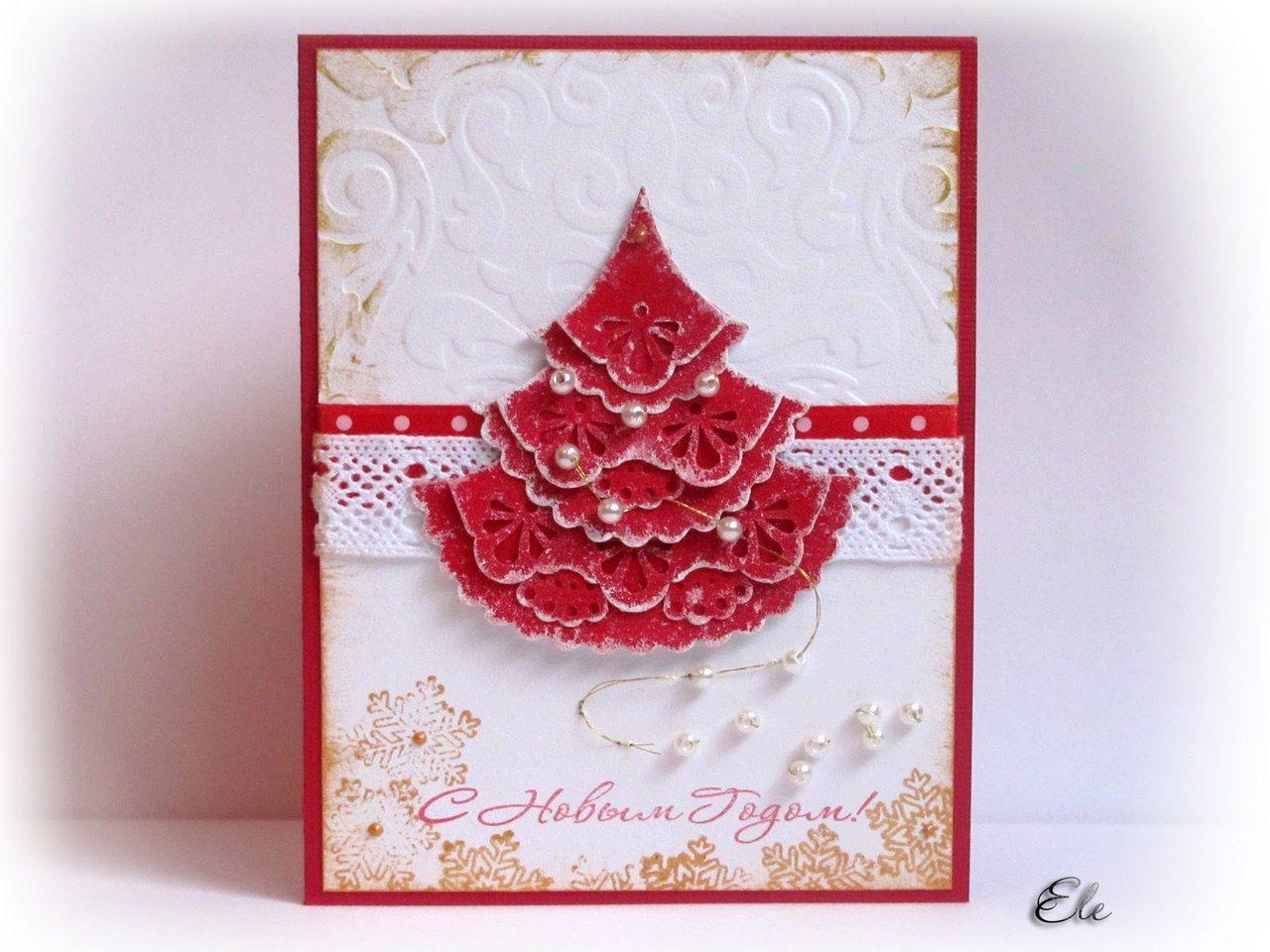 Мастер класс по изготовлению новогодней открытки своими руками из салфеток