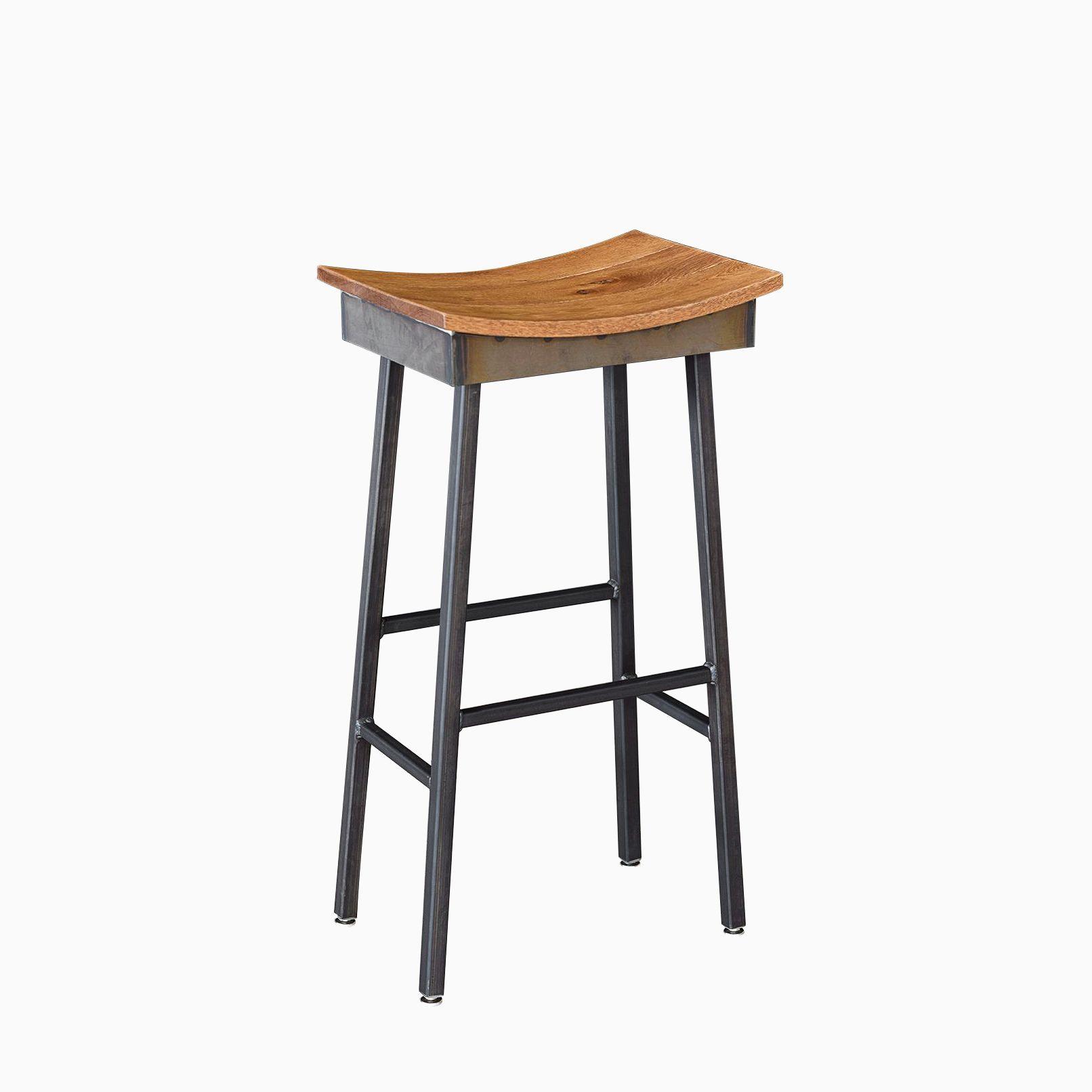 Custom Made Industrial Modern Saddle Stool Chairs