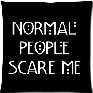 American Horror Story Normal People Scare Me Custom By Rainy Man Pillow Case Cover By Rainy Man Pillow Case Cover 1 American Horror Story American Horror Words