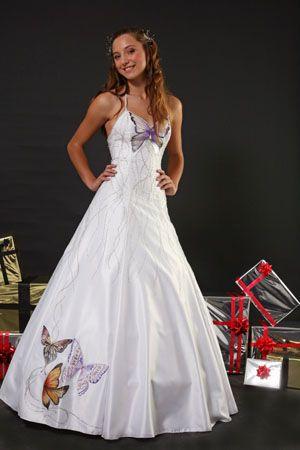 vestido blanco mariposas