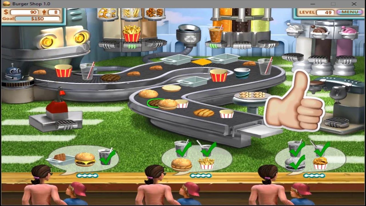 Burger Shop walkthrough level 49 five stars (With images