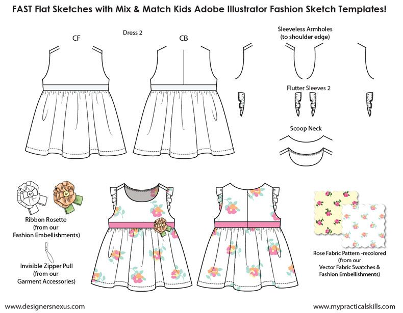Fashion Design Templates For Kids