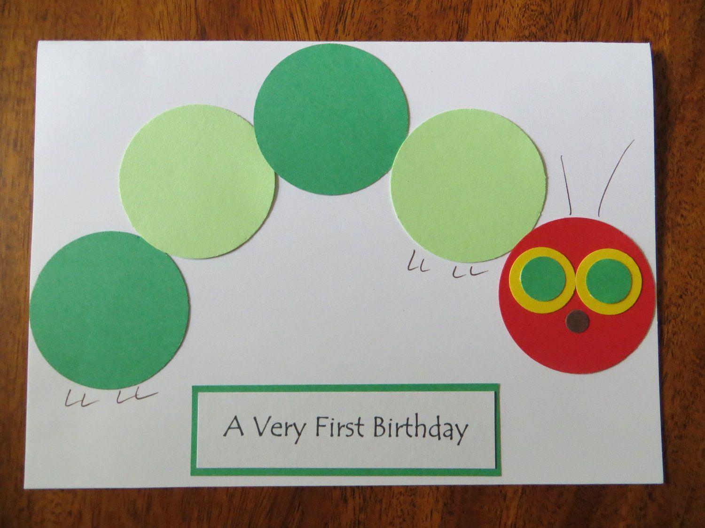 A Very Hungry Caterpillar 1st Birthday Invitations 1st Birthday Cards Hungry Caterpillar Very Hungry Caterpillar