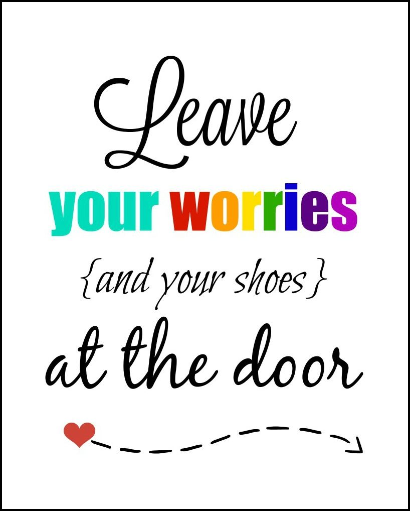 leave your shoes at the door printable free printable ideas