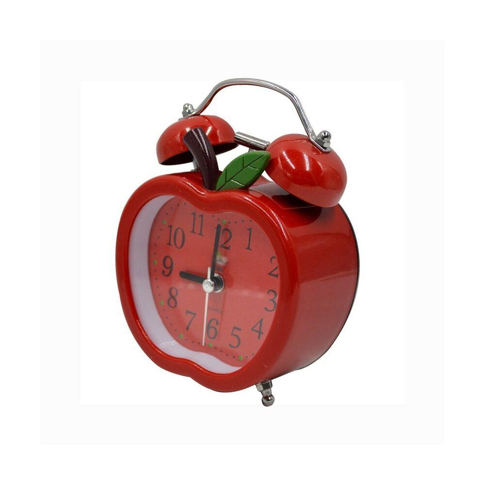 Clara Cute Apple Shape Time Alarm Clock Retro Clock With Nightlight For Kids Fashion Home Garden Homedco Retro Alarm Clock Retro Clock Kids Alarm Clock