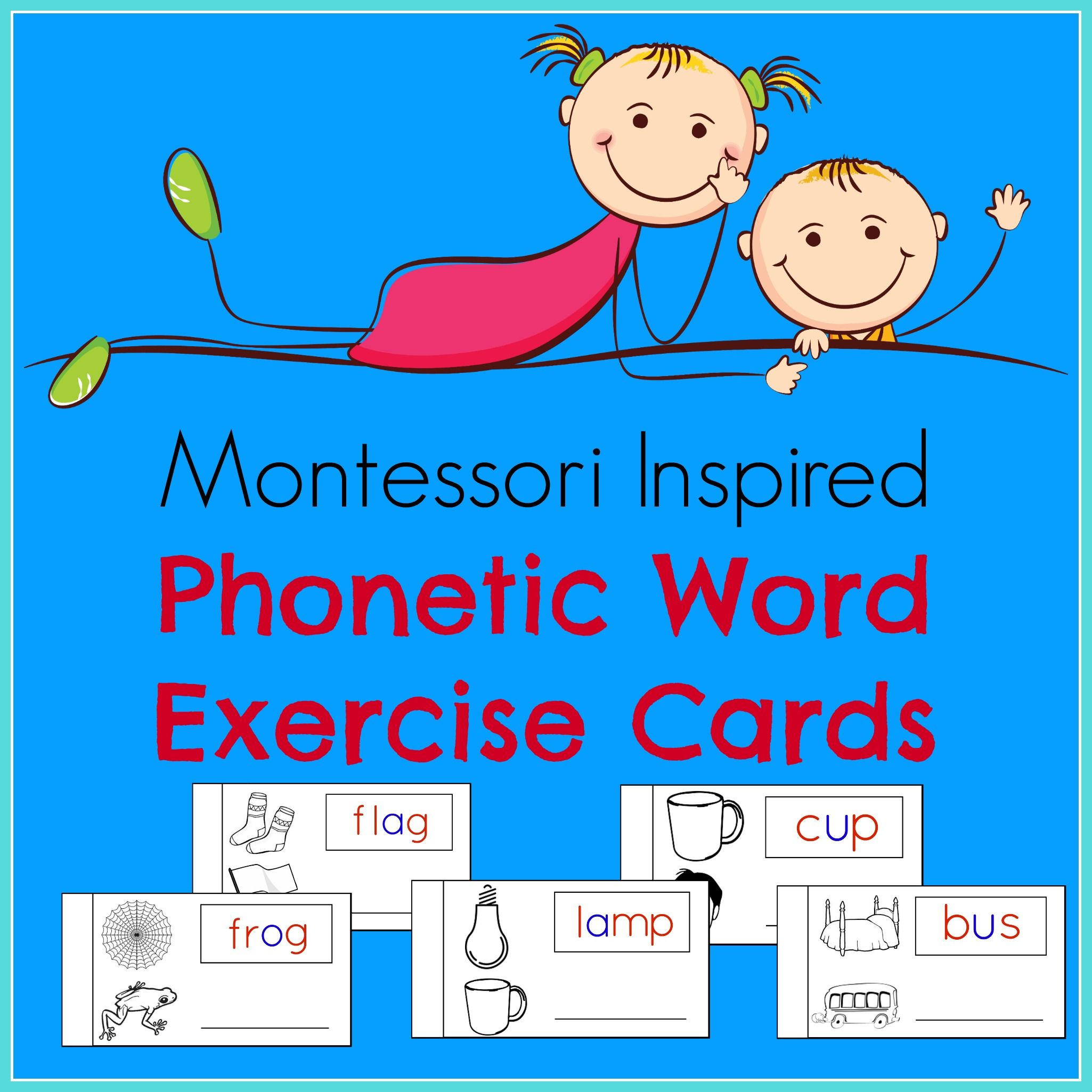 Phonetic Word Exercise Cards Contain 54 Phonetic Word Cards With 3 Letter Phonetic Words A E I