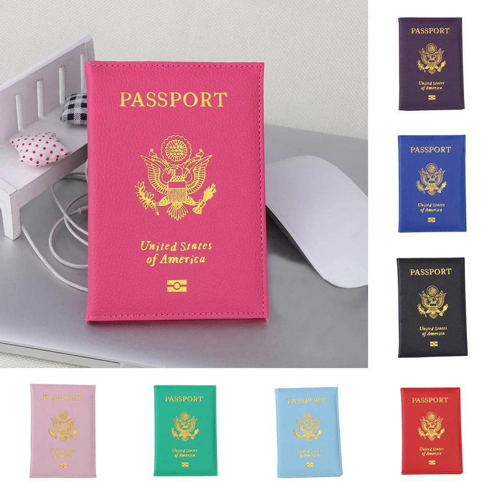 Sunbona Card Holder Wallet Passport Holder Protector Wallet Business Card Soft Passport Cover Black
