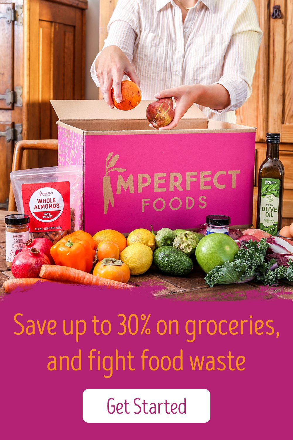 Groceries that fight food waste, up to 30 off. Delivered