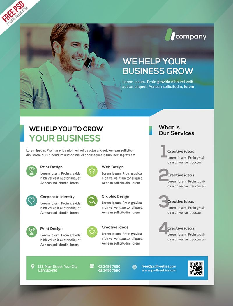 Clean business flyer template free psd business flyer templates clean business flyer template free psd cheaphphosting Gallery
