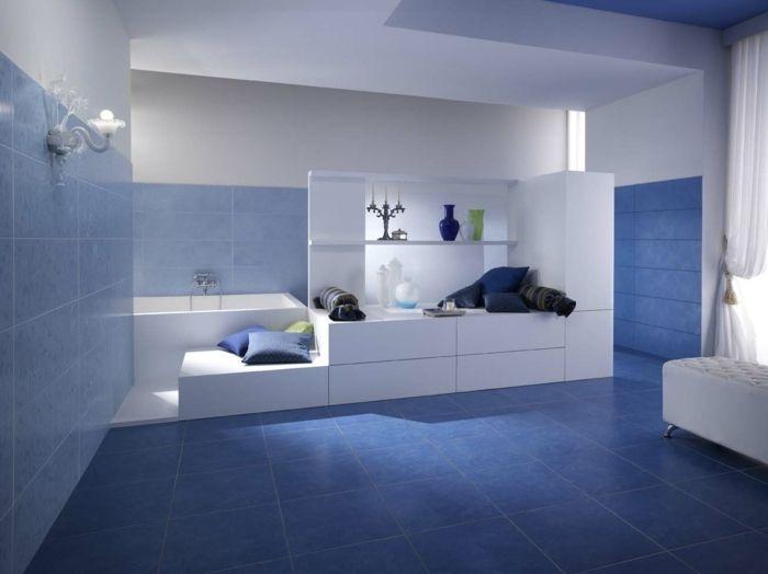 Badezimmer Fliesen In Blau