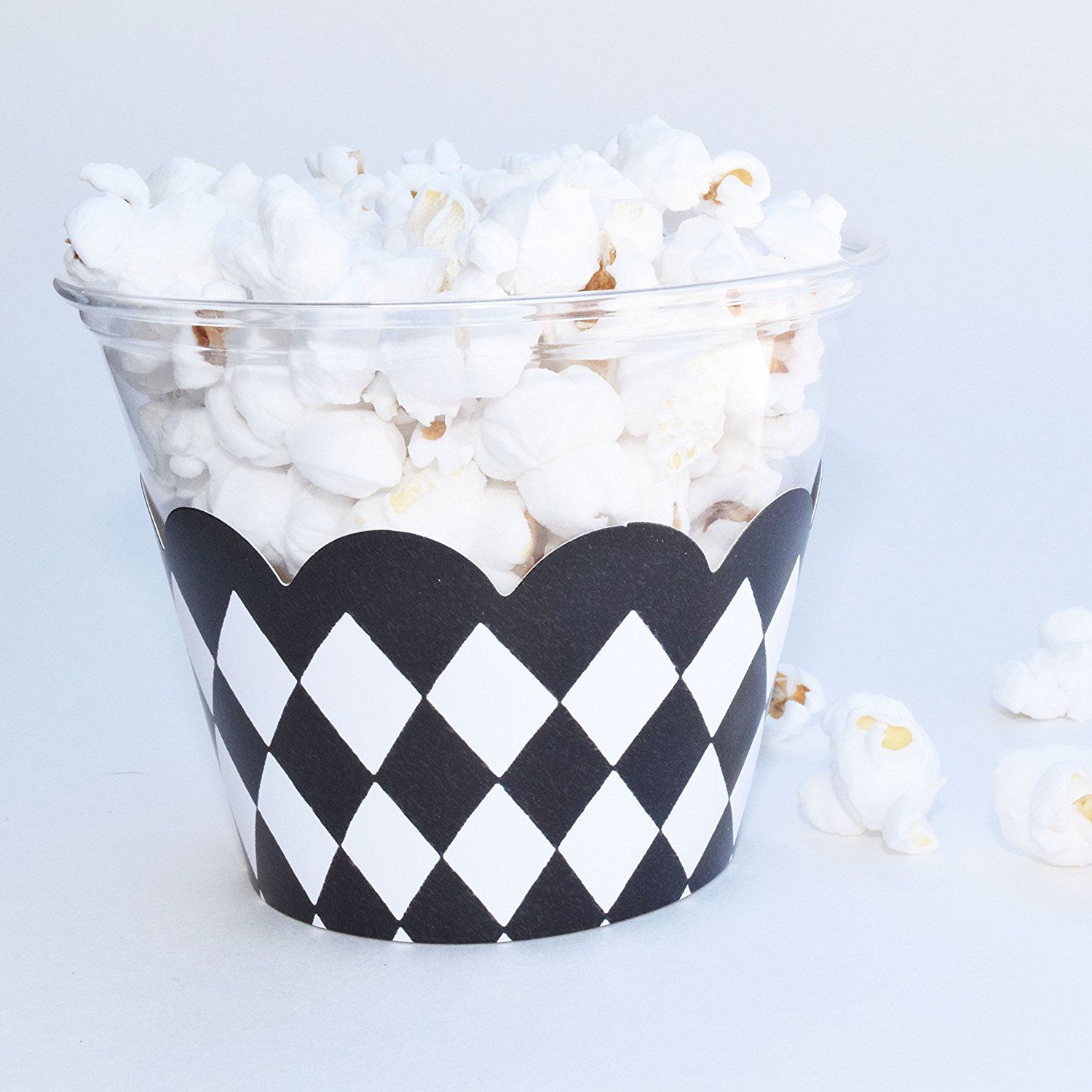 Amazon.com: 50s Theme Party Supplies, Black and White Checkerboard ...