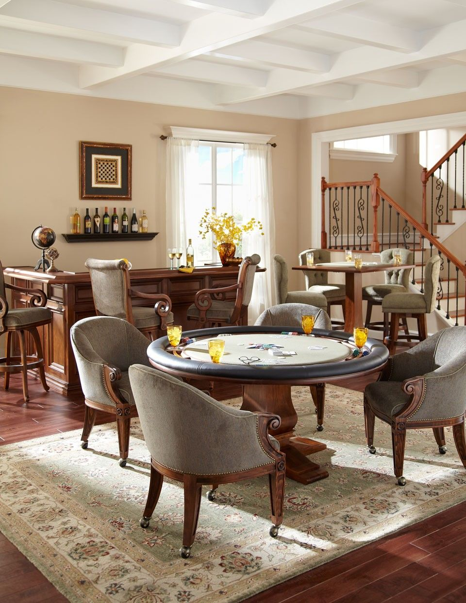 Image Result For Game Table In Living Room Card Table And Chairs Formal Living Rooms Living Room Table