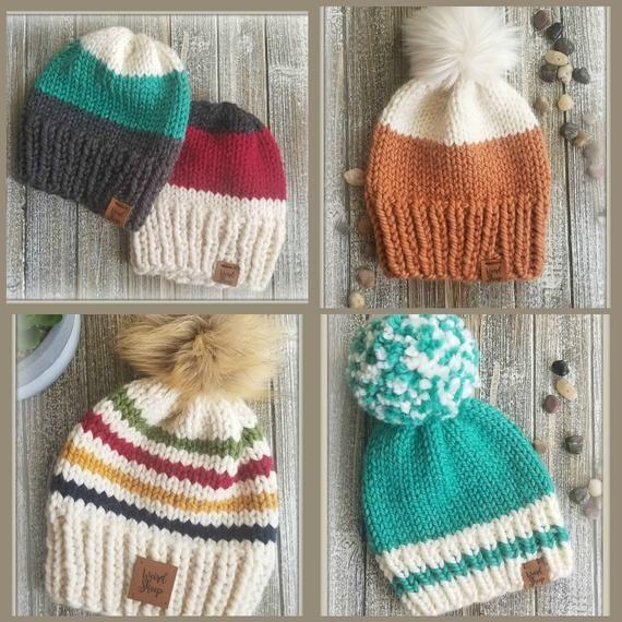 Basic Super Bulky Hat - 7 Sizes - Knit Pattern - PDF FILE ...