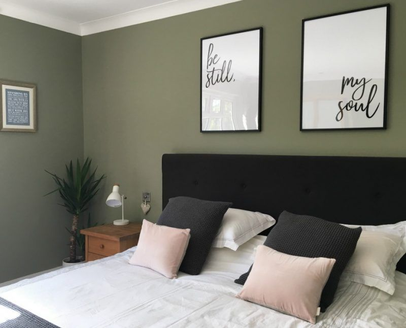 The Bedroom Makeover Olive Green