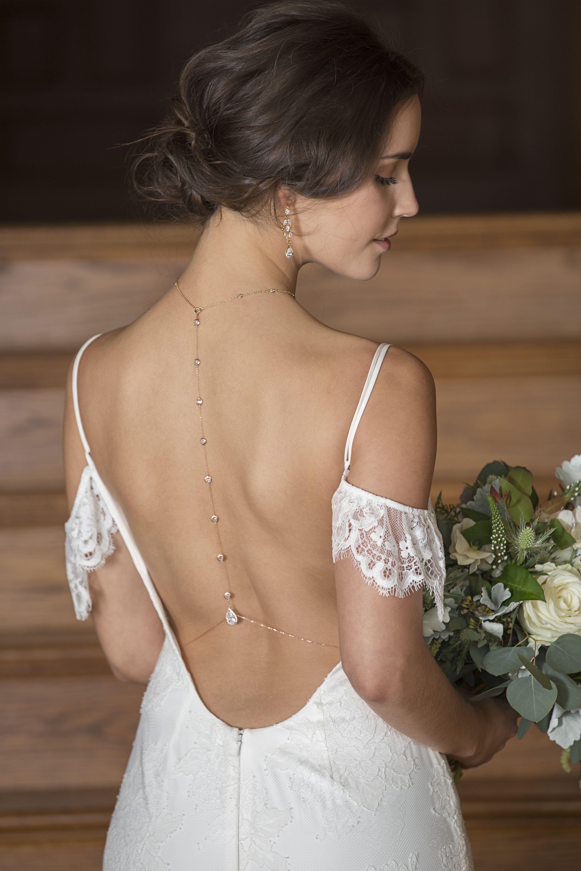 Handcrafted Bridal Back Necklace Backdrop Necklace Bridal Necklace Wedding Accessories Bride Vestido De Noiva Vestidos De Noiva Dos Sonhos Colar De Noiva