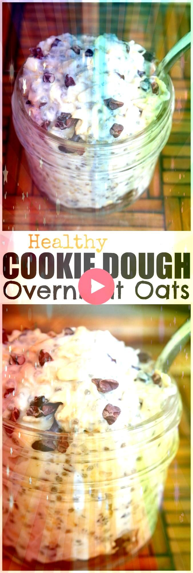 Cookie Dough Overnight Oats I have such a sweet tooth and rarely have s  EAT HEALTHY Cookie Dough Overnight Oats I have such a sweet tooth and rarely have s  EAT  This ea...