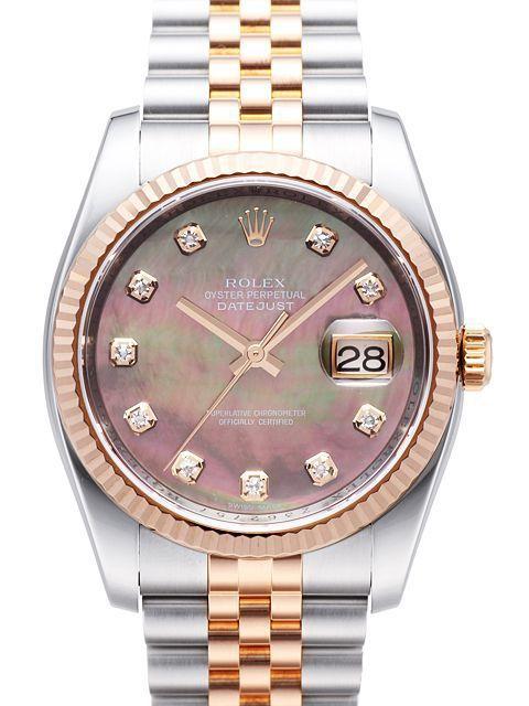 Rolex Datejust 36 116231 Black Perlmutt DIA Jubile Band in