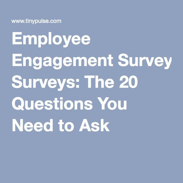 employee engagement surveys  the 20 questions you need to