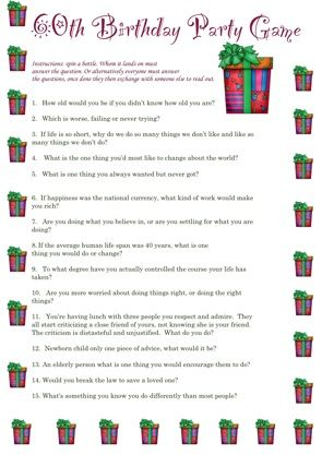 Here Are Some Winning Party Game Printables For The Parties Listed Below We Adding 60th Birthday Ideas