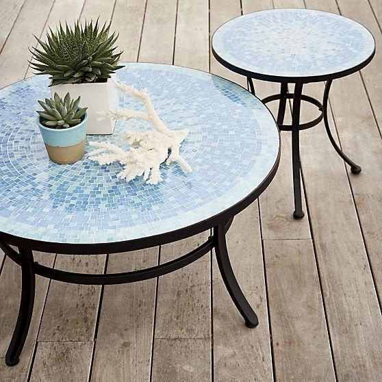 Mosaic Blue Coffee Table