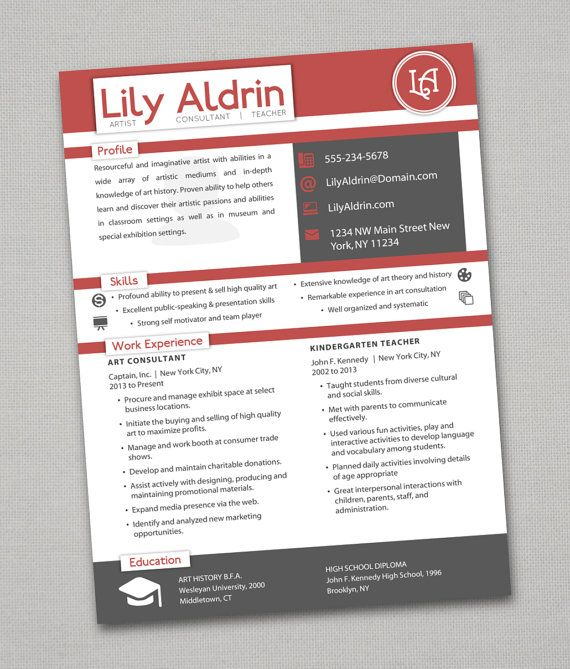 Resumes that actually pass the 6 second test! More colors - art consultant sample resume