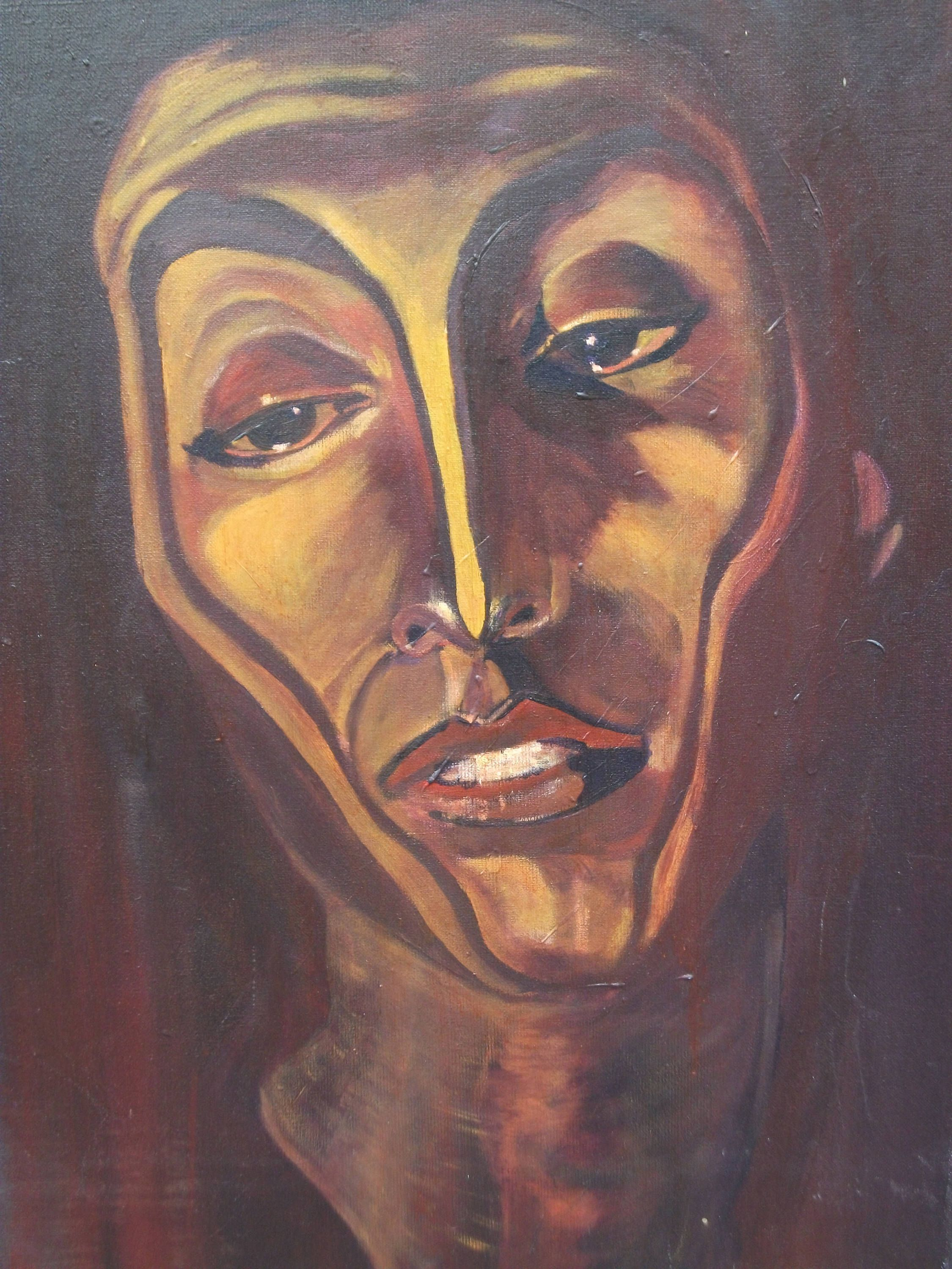 Painting painting figurative portrait in