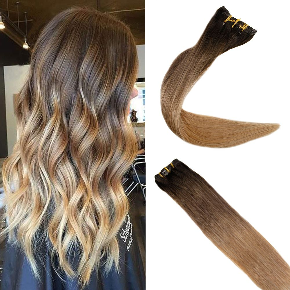 Clip In Hair Extensions 100 Remy Human Hair 7 Pieces 120