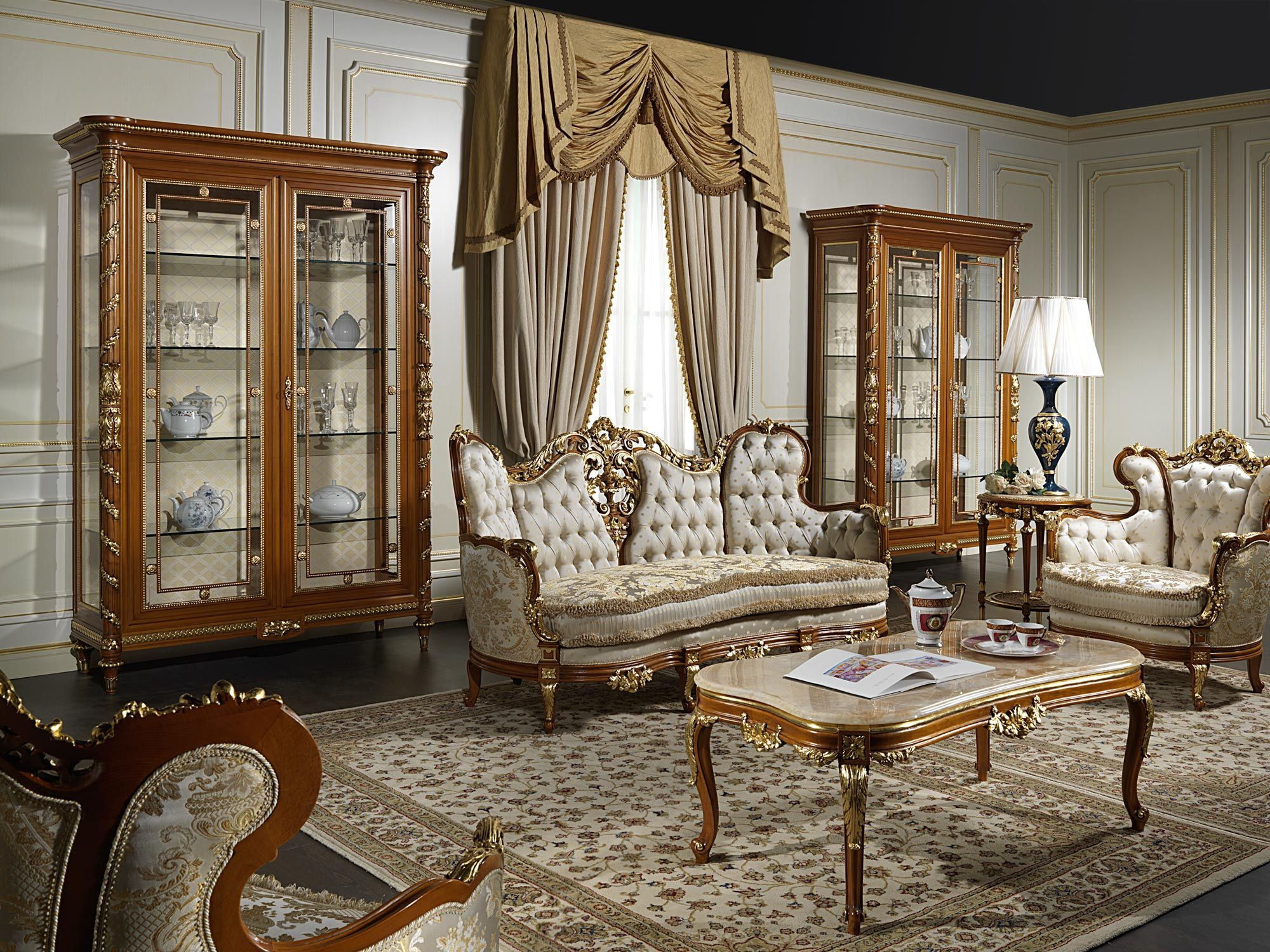 Luxury Living Room 800 In The Classic Style Of Italian Craft