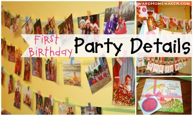 First Birthday Party easy DIY photo invitation using photos to