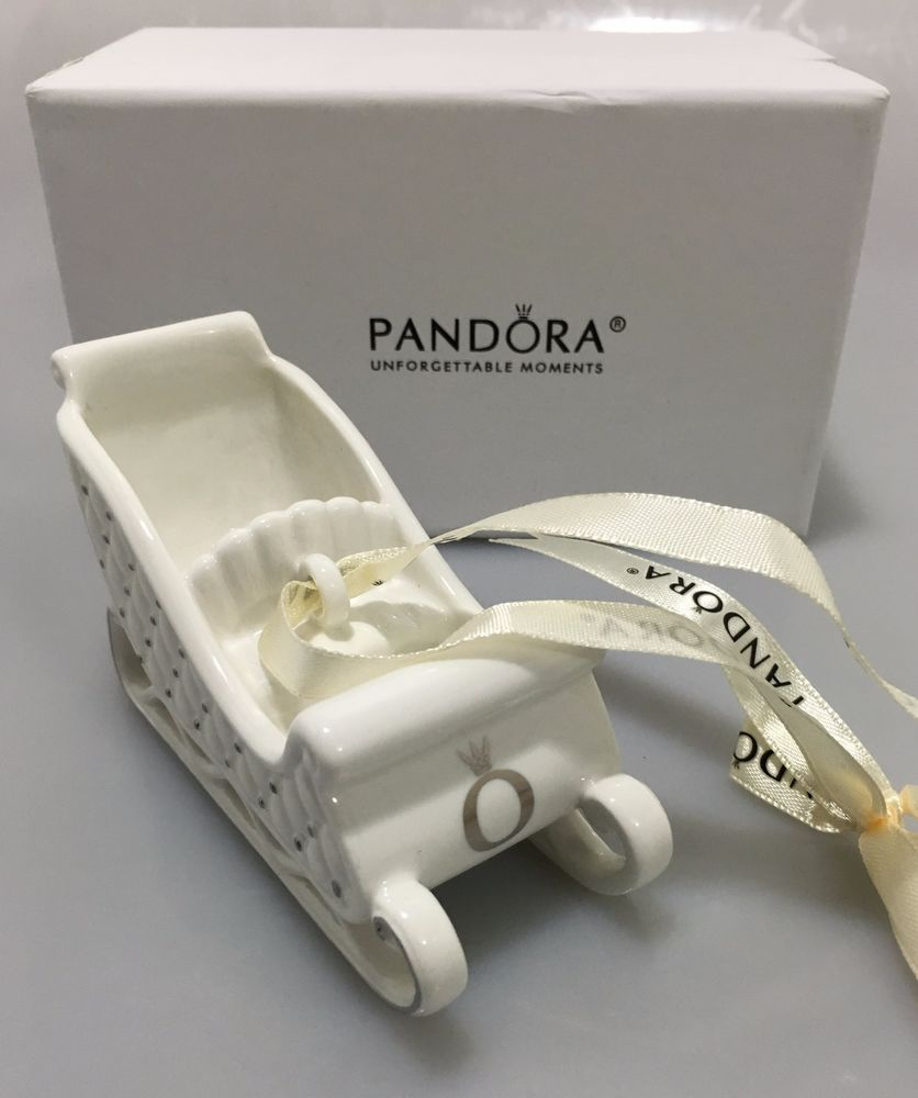 Pandora Porcelain Sleigh Ornament in Box P01047 Holiday 2014 ...